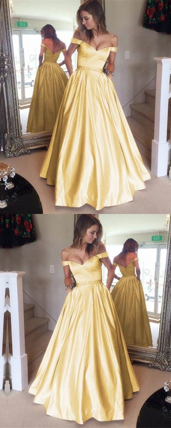 V Neck Long Prom Dresses Ball Gowns ,Off The by Dress Storm on Zibbet