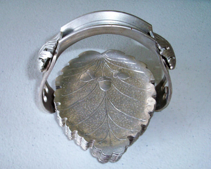 Continental Silver Company Leaf & Acorn Coasters With Holder