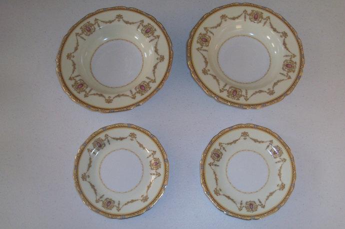Noritake Valdina 2 Bread And Butter Plates & 2 Soup Bowls