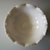 Smith Glass Crimped Round Milk Glass Serving Bowl Grape Design