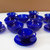 Duralex Bormioli Rocco Blue Cobalt Swirl Set Of 6 Cups and Saucers & 5 Bowls