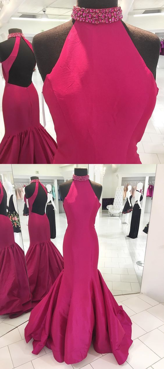 hot pink long prom dress formal evening by Dress Storm on Zibbet