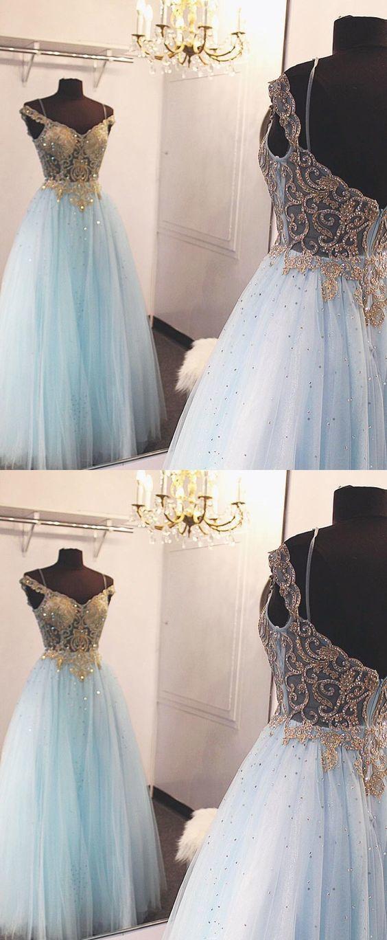 4c3492688bd Sky Blue Backless Long Prom Dress Ball by Dress Storm on Zibbet