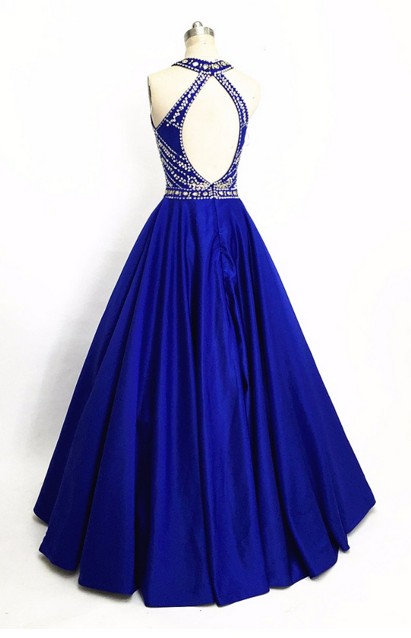 Hot sales of two parts of the PROM cheap satin dress PROM evening dress formally