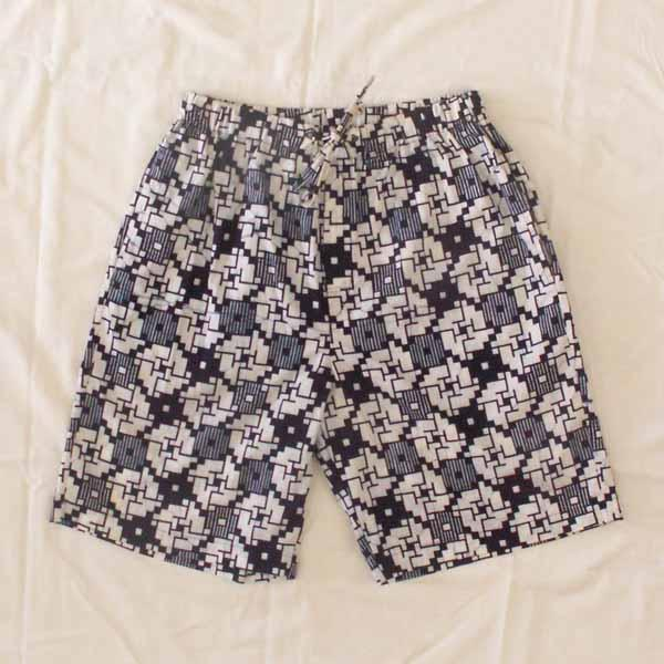 Blue Print Cotton Sleep Shorts