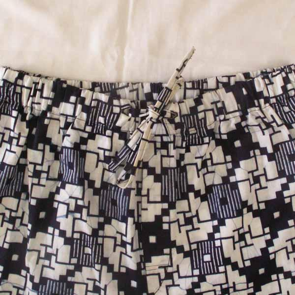 Blue Print Cotton Sleep Shorts