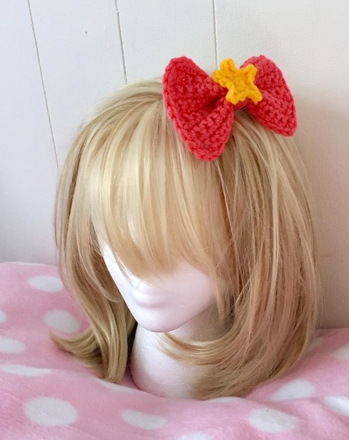 READY TO SHIP Star T-Shirt Barrette/Hair Bow