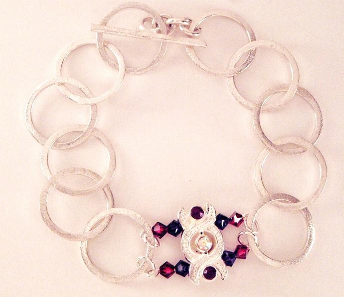 Purple Modern Love Bracelet