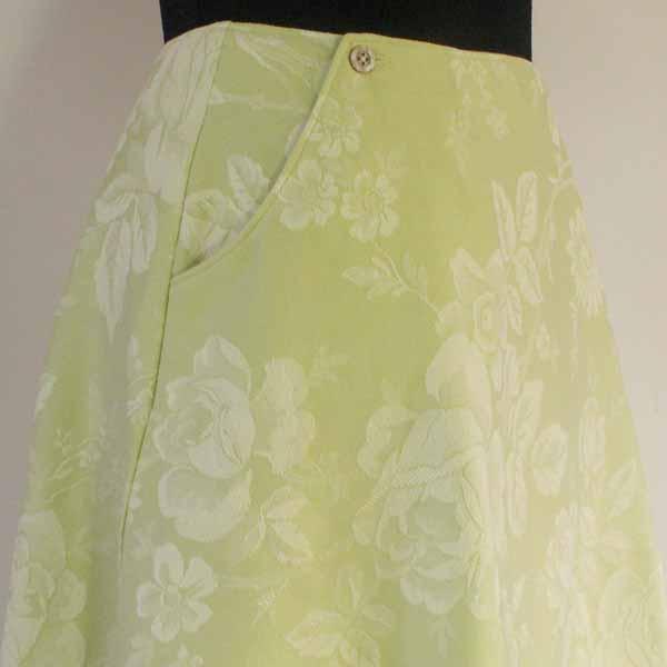 Green Tea / Floral Aline Skirt