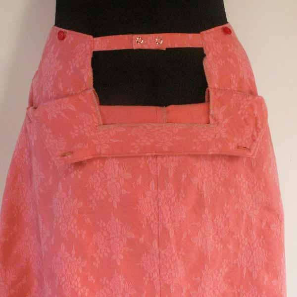 Rose Coral No-Zipper Skirt