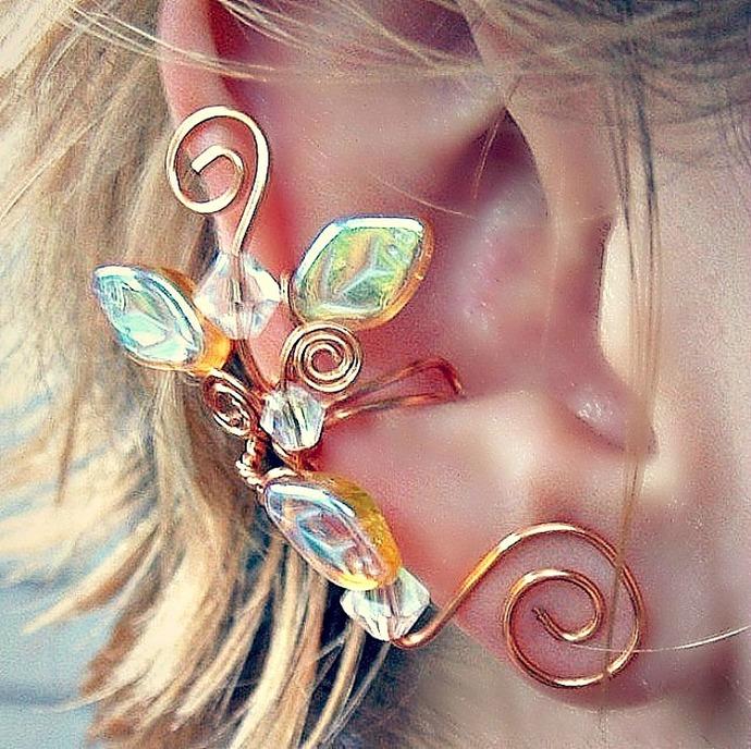 Dragonfly Woodland Ear Cuff