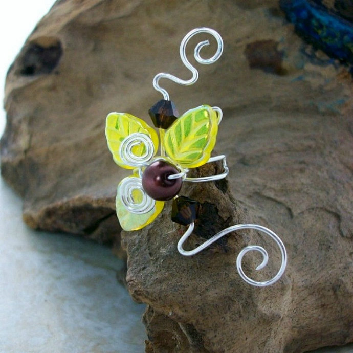 Sunflower Fairy Ear Cuff No Piercing