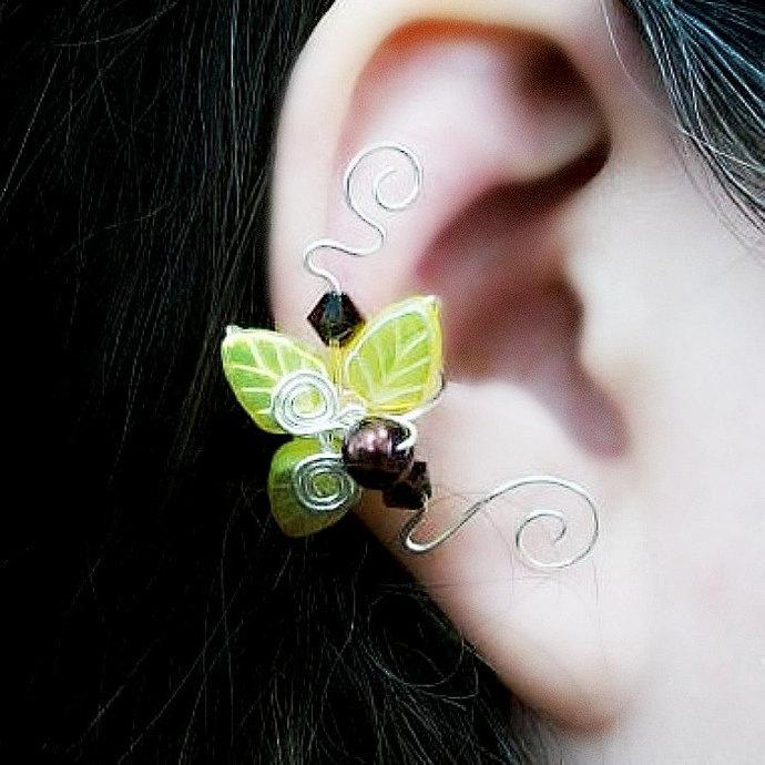 Sunflower Fairy Ear Cuff No Piercing