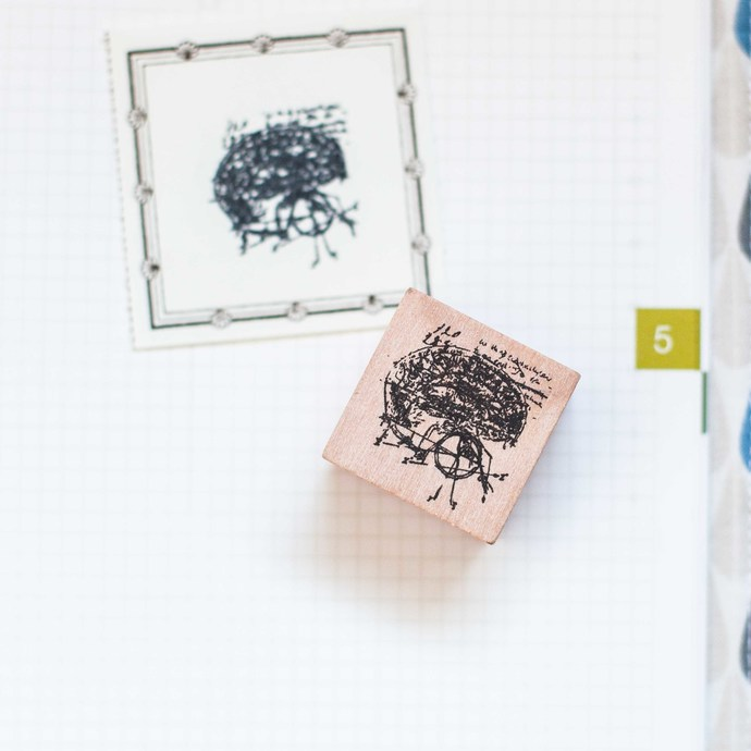 Anatomy series: Brains - decorative wooden planner stamp suitable for planning,