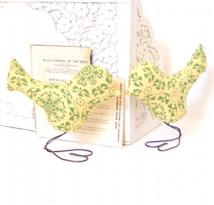 Wedding Cake Topper Love Birds in by vintagegreenlimited on Zibbet
