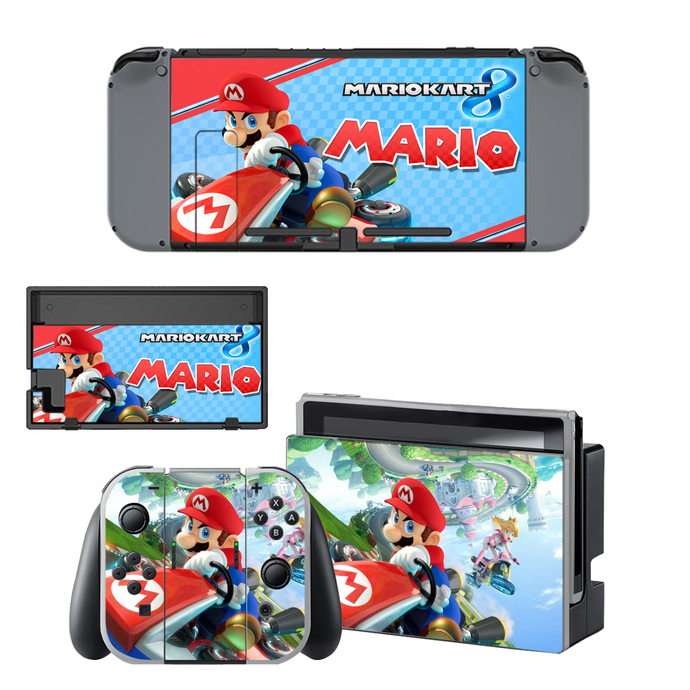 Super Mario Mariokraft decal for Nintendo switch console sticker skin