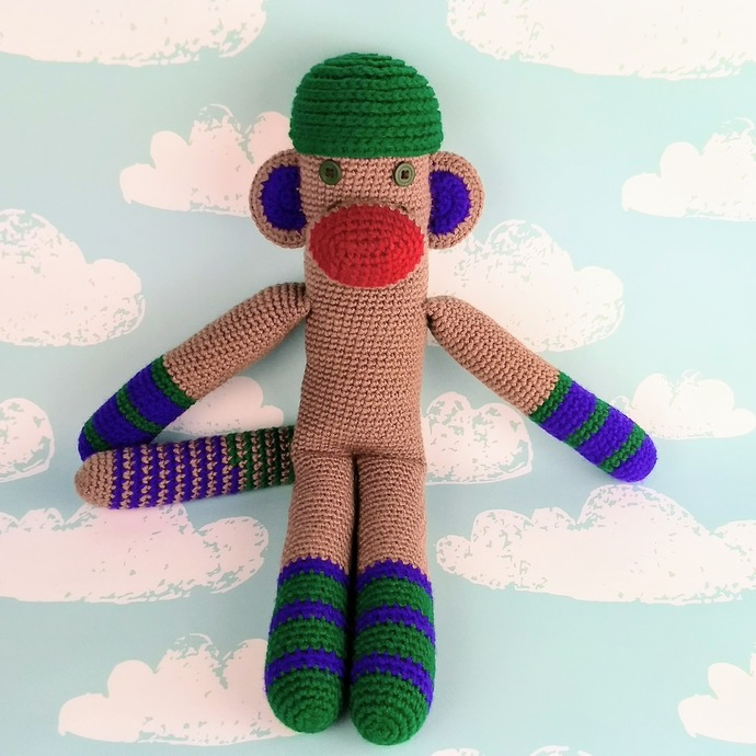 Emerald and Amethyst Monkey