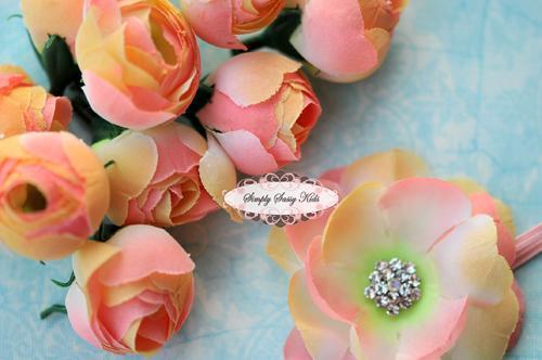 SALE 25 pcs Pastel Mini Ranunculus Silk Flower Set