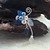 Blue Woodland Ear Cuff Climber
