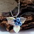 Blue Fairy Leaf Necklace Woodland Triquetra