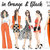 Watercolour fashion illustration Clipart - Girls in Orange & Black