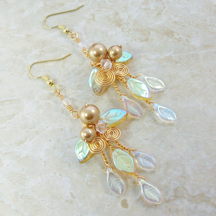 Woodland Fairy Earrings Holiday Gold