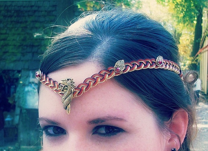 Woodland Dragon Lady Circlet Crown Custom Colors