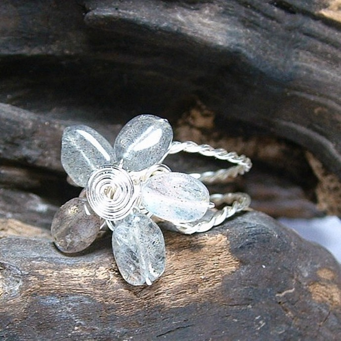 Labradorite Rainflower Fairy Ring