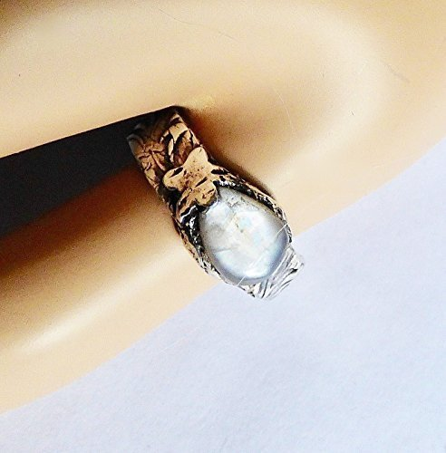 Fine Silver Handcrafted Moonstone Ring