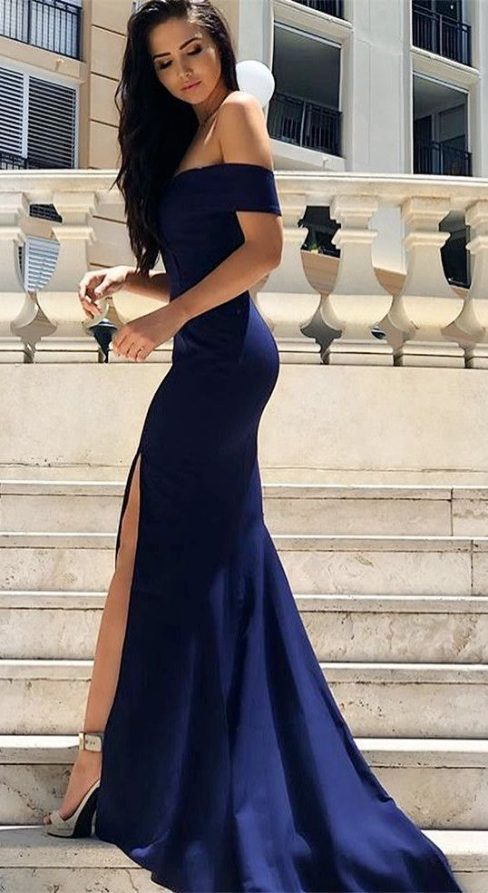Elegant Mermaid Off The Shoulder Long Prom Evening By Dresses On