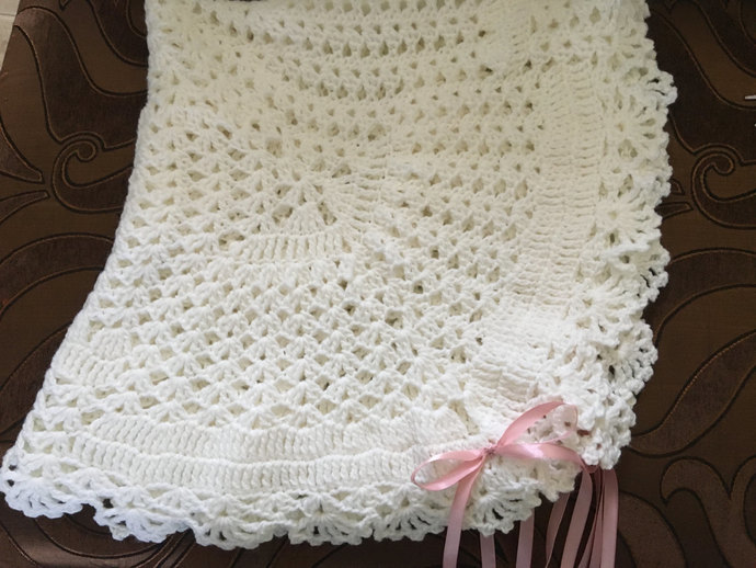 Handmade Unisex Intricate Lace White By Nanas Baby Creations On