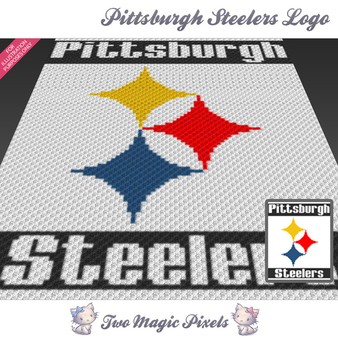 Pittsburgh Steelers Logo Crochet Blanket By Twomagicpixels On Zibbet