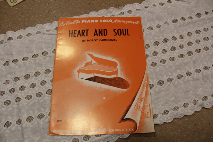 Vintage Sheet Music- Cy Walter Piano Solo Arrangements - Heat and Soul