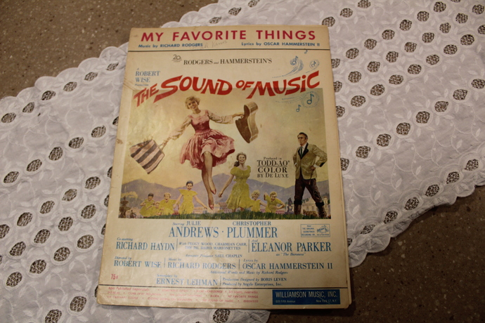 Vintage Sheet Music-1959 The Sound OF MUSIC-  RODGERS HAMMERSTEIN - Lonely