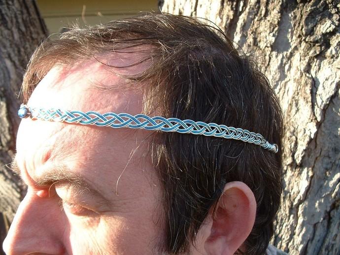 Mens Celtic Circlet Pern Harper Guild Abalone Silver