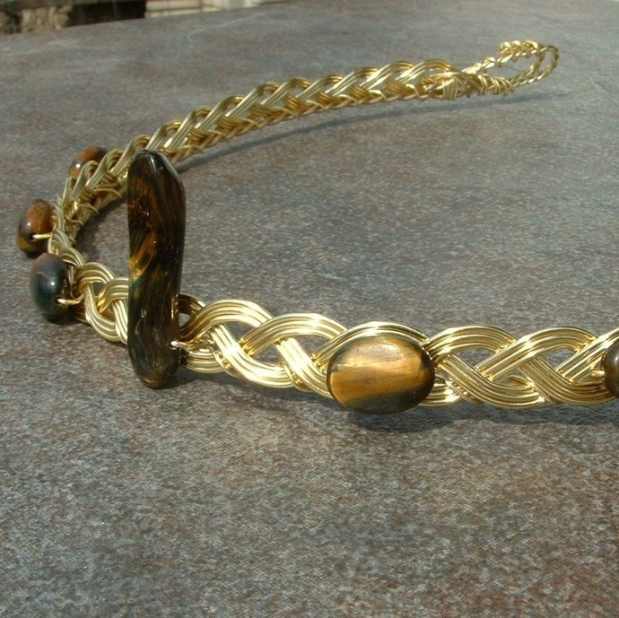 Gold Tigers Eye Circlet, Standing Stone Dragon Dolman