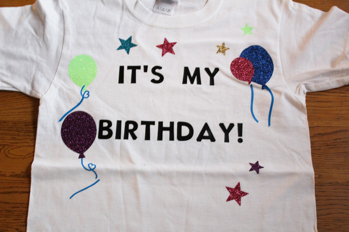 Handmade Happy Birthday Youth Tee Shirt Its My