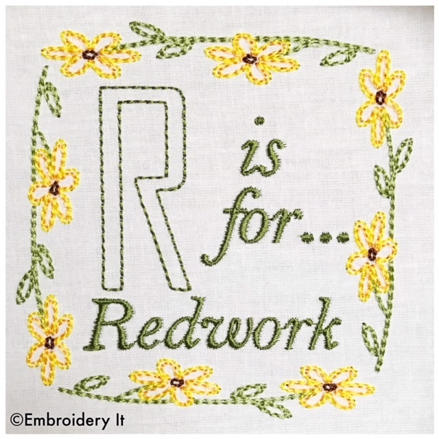 Embroidery Words Alphabet Letter R - Machine Embroidery Design in Pes, Dst, Exp,