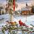 American Christmas Winter Cross Stitch Pattern***LOOK***
