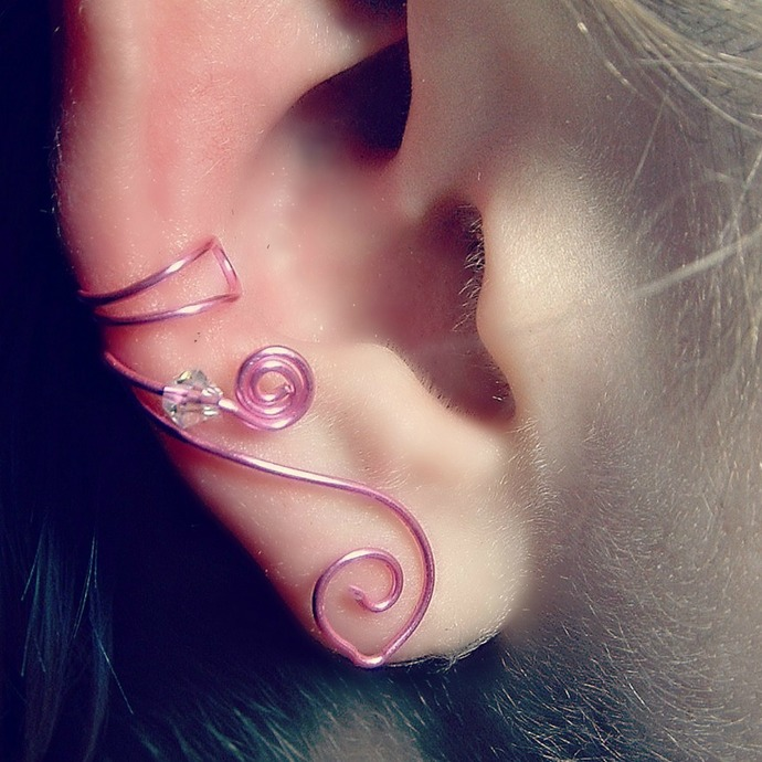 Celtic Ear Cuff Princess Pink