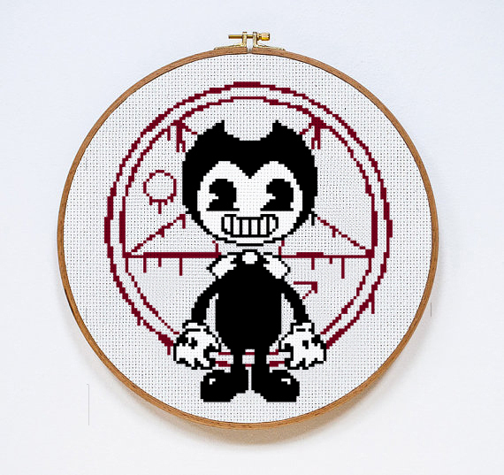 bendy and the ink machine digital by stitches of creation on zibbet