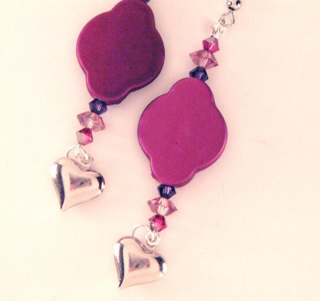 Pink Deco Sweetheart Earrings