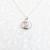 Diamond CZ Sterling Silver Filigree Pendant Necklace