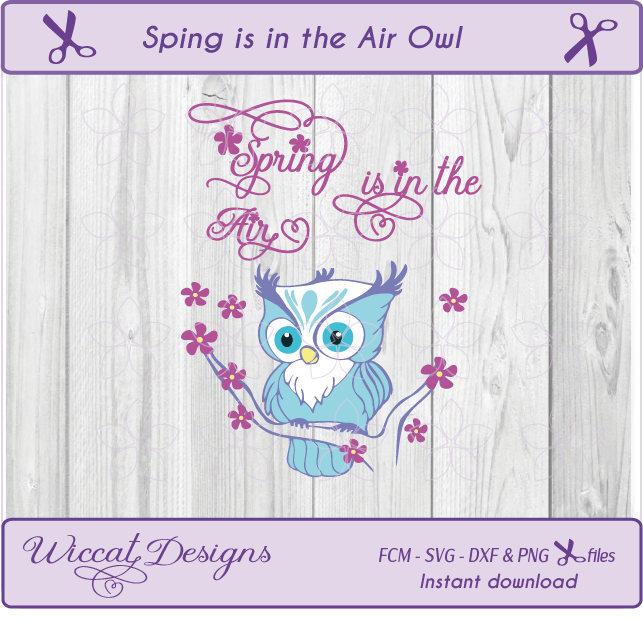 Owl svg, spring svg, Woodland svg, owl dxf, bird svg,  animals svg,  Forest