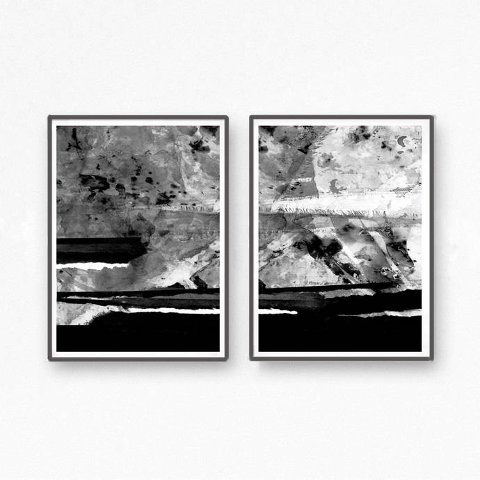 Abstract Art Printable Art, Watercolor Art Print DOWNLOAD ART Black and White