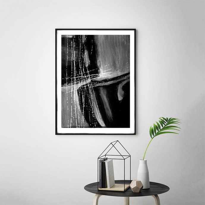 Instant Download, Minimalist Art,Black & White Abstract Art, Minimalist