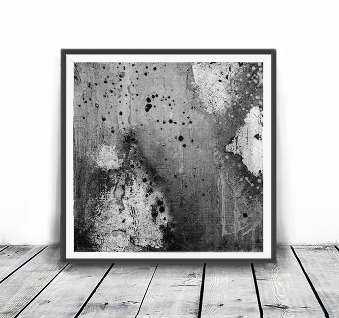 gray, black and white abstract, 12x12, minimalism art, Abstract printable art,