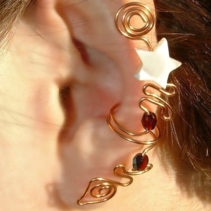 Celtic Star Goddess Ear Cuff Ear Climber