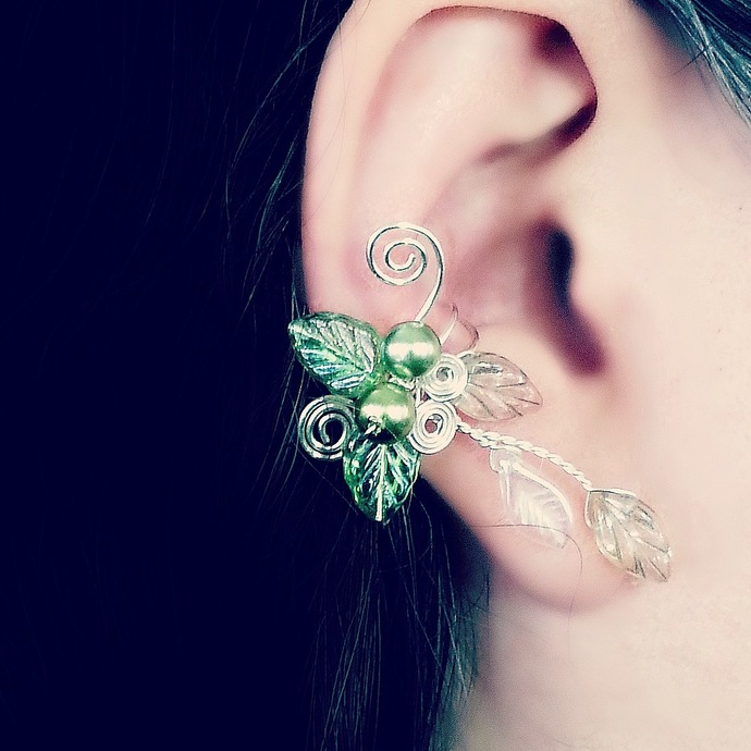 Spring Green Ear Cuff Vine