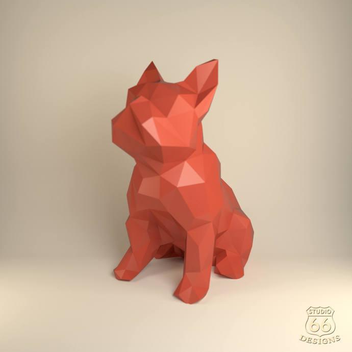French Bulldog Papercraft Bulldog Paper By Studio66designs On Zibbet
